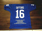 FRANK GIFFORD NEW YORK GIANTS HOF HALFBACK SIGNED AUTO JERSEY MAB AUTHENTIC
