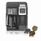 New Hamilton Beach 49976 Flex brew 2-Way Brewer Programmable Coffee Maker, Black