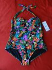 Catalina One-piece Women's Swinsuit Multi-Color Size 3X (22W-24W) New with Tags!