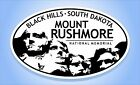 MOUNT RUSHMORE National Memorial Oval Sticker Euro Travel Decal 3 5 8 x 6