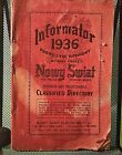 Informator 1936 Nowy Swiat polsih Business  Professional Classified directory Ny