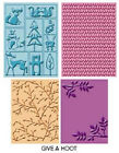 4 Cuttlebug Cricut Embossing Folders Give A Hoot Forest Friend Camping Scout