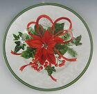 222 Fifth (PTS) China HOLIDAY FESTIVITIES Poinsettia Salad Plate(s) EX