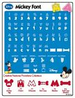 Disney Mickey Font Cricut Cartridge 29 0381 Minnie Mouse Pluto Donald Duck Goofy