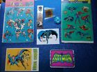 DC Super Heroes Stickers  VTG Pins LOT of 8 RARE HTF