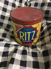 Grungy Primitive Country Antique Rusty Ritz Crackers Tin Can