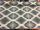 Obli Circles Charcoal Reversible Heavy Woven upholstery Fabric 62 by the yard