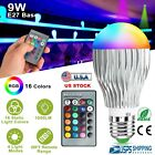 E27 9W LED RGB 16 Color Changing Magic Lamp Light Bulb With IR Remote Control US