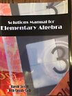 Solutions Manual For Elementary Algebra Harold Jacobs Cassidy Cash