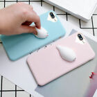 Funny Squishy Cute 3D Cartoon Soft Rubber Gel Case Cover For iPhone 6 7 8 Plus X