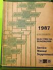 1987 Factory Chevrolet Celebrity service Manual supplement Electrical Diagnosis