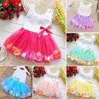 Baby Flower Girl Dress Wedding Party Formal Princess Tutu Dress Pageant Dresses