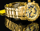 Invicta 48mm Mens Pro Diver Scuba 3.0 Chronograph 18K Gold Plated SS Tachy Watch