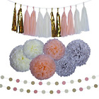 NEW 20Pc Baby Shower Wedding Decoration Party Tissue Paper Pom Poms Flower Balls