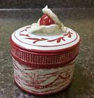 Fitz & Floyd Town & Country Winter Farm Mill oval jar canister Cape Gooseberry