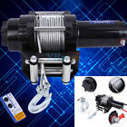 12V 4000LBS Electric Winch Kit Steel Cable Boat Winch 4WD ATV 4X4 With Remote US