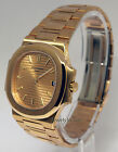 Patek Philippe Nautilus 18k Gold Automatic Mens Watch Box/Papers 3800