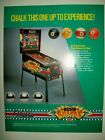 1990 Bally POOL SHARKS Pinball Flyer!