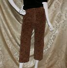 LAURA ASHLEY VINTAGE Multi Color Floral Corduroy Women Capris Pants Size 8