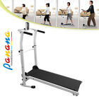 Folding Manual Treadmill Running Machine Cardio Fitness Exercise Incline Home