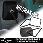 MICTUNING Trail Mirror Set Door Hinge Mirror Fit  All Jeep JK  Wrangler TJ YJ CJ