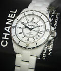 Chanel J12 White 38mm Ceramic Automatic Watch Box/Papers H0970