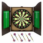 Dartboard Cabinet Set Game Shot Sports Chalk Score Board Man Cave Eraser