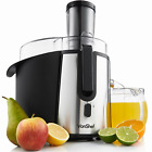 VonShef Professional Powerful Wide Mouth Whole Fruit Juicer Machine 700W Max Po