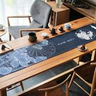 Chic Table Runner Washable Lotus Printed Tablecloth Fine Home Decor Soft Mat