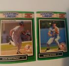1989 DON MATTINGLY & WADE BOGGS STARTING LINEUP CARDS-ONE ON ONE-MINT