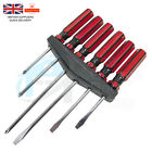 6 Piece Phillips & Slotted SCREWDRIVER SET With Storage Rack Tools Building DIY