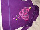 EUC THE CHILDRENS PLACE TCP GIRL PURPLE SHIRT HOOD TOP LONG SLEEVE SMALL 5 6