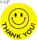 Thank You Smiley Face Label Stickers 200 Roll Count 1 1 2 Size