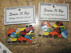 DRESS IT UP CRAFT BUTTONS SCRAPBOOKING THINGS THAT GO ZOOM 2 PKS OF 8 TRUCKS