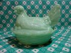 Jadeite Medium Hen in Nest in Excellent Condition