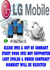 LG parmanent network unlock code for LG VX9900 Sure Mobile UK