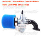 Carb 26mm Carburetor Intake Pipe Air Filter Set For 125c 140 150cc Dirt Pit Bike