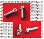 DUCATI SILVER TITANIUM REAR BRAKE CALIPER BOLTS SAFETY WIRED 748 916 996 998