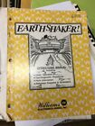 Williams EARTH SHAKER Pinball Machine Manual- good used original