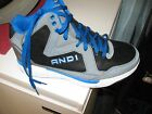 AND 1 Mens Capital Black Royal Athletic Basketball Sneakers Size 10