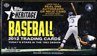 2012 Topps HERITAGE Baseball Factory Sealed Hobby Box (From a sealed case!)