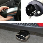 New Silver Bent Clamp on Car Exhaust Muffler Tip Tailpie Trim Cover Kit Univesal