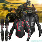Motorcycle Full Body Armor Jacket Motocross Racing Spine Chest Protector Gear CP