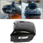 Black Harley Tour pak pack trunk for 2014 2018 touring Road King Electra glide