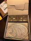 Snack Set Federal Glass Hospitality Homestead Wheat Pattern Cup Plates~8pc