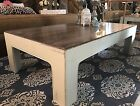 Mid Century Modern Wood Coffee Table White Shabby Chic Restore