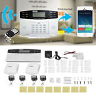 Wireless LCD GSM SMS Burglar Fire Alarm System Auto Dialer Home Security Safe BT