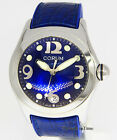 Corum Boutique Bubble Blue 45mm Steel Date Mens Watch Box/Papers 163.150.20