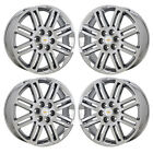 20 CHEVROLET TRAVERSE ENCLAVE PVD CHROME WHEELS RIMS FACTORY OEM GM SET 4 7063