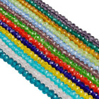 100Pcs 4mm New 12 Colors Crystal Rondelle Glass Loose Beads DIY Jewelry